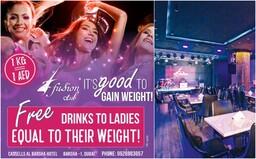 Bar v Dubaji nabízí pro ženy drinky zdarma. Záleží ale na tom, kolik váží