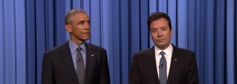 Barack Obama opäť pustil mikrofón na zem. Tentokrát u Jimmyho Fallona, kde potvrdil, že má štýl