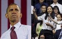 Barack Obama poprosil mladú Vietnamku, aby mu zarapovala po tom, čo sa predstavila ako raperka a chcela sa ho niečo opýtať