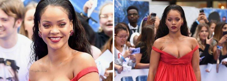 Barbadoská kráska Rihanna v Londýně zazářila na premiéře filmu Valerian. Zpěvačka vsadila na nádhernou róbu, v níž vynikl její dekolt