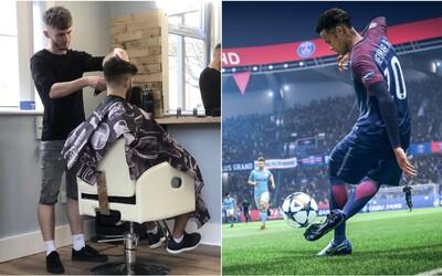 Barber shop nabízí střih zdarma, pokud vyhraješ nad holičem ve hře FIFA 20. Pokud prohraješ, platíš dvojnásobek