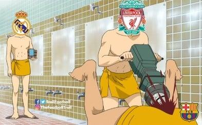Barcelone sa po výprasku 4:0 od Liverpoolu smeje celý svet. Ďakujeme, Suárez, že si neoslavoval