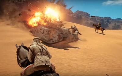 Battlefield 1 odhaluje dechberoucí souboje v poušti plné akce, explozí a jezdců na koních