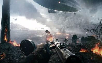 Battlefield 1 z prvej svetovej v atmoférických záberoch na multiplayerovú vojnu plnú výbuchov a slávnych zbraní minulého storočia