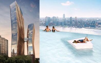 Bazén uprostřed dvou mrakodrapů v New Yorku. Speciální most mezi budovami nabídne fenomenální výhled