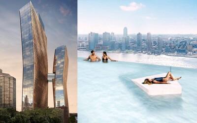 Bazén uprostred dvoch mrakodrapov v New Yorku. Špeciálny most medzi budovami ponúkne fenomenálny výhľad