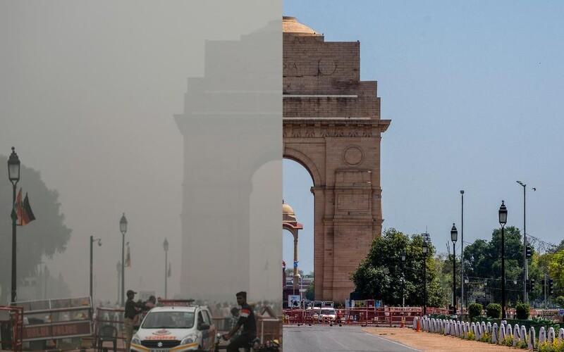V Indii sa neuveriteľne vyčistil vzduch po tom, čo vláda zavrela krajinu s viac ako miliardou obyvateľov do karantény. 1,3 miliardy Indov nesmie vychádzať von ešte minimálne dva týždne