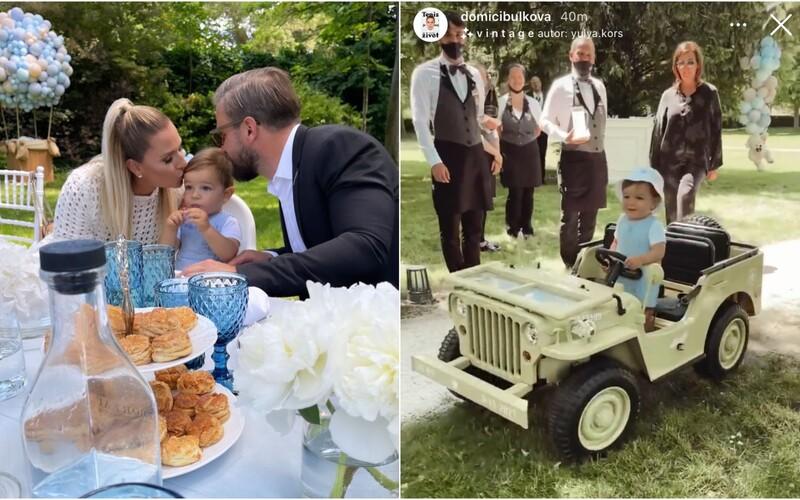 Cibulková zorganizovala synovi luxusnú oslavu 1. narodenín hodnú kráľovskej rodiny. Darovala mu outfit od Dioru a mini Jeep.