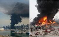 Bejrút mesiac po ničivej explózii opäť v plameňoch. V prístave vyčíňal rozsiahly požiar