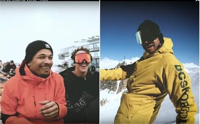 Ben Cristovao si užívá alpské svahy. Vrací se k angličtině a snowboardu