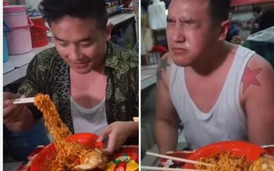 Ben na pár minút stratil sluch, keď vyskúšal pokrm zvaný Smrtiace rezance. Boli asi 4000-krát pálivejšie než Tabasco omáčka