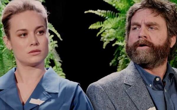 Benefit Lumberjacks a feministka Brie Larson. Komediant Galifianakis vo svojich interview zosmiešňuje hollywoodske hviezdy