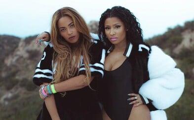 Beyoncé a Nicki Minaj si užívají bazénových hrátek v novém videoklipu k Feeling Myself