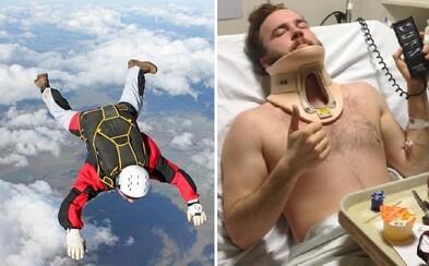 Bez padáku padol z výšky vyše 4 kilometrov. Brad prežil len zázrakom a na 5 mesiacov skončil v nemocnici