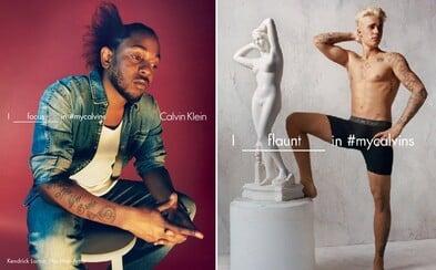 Bieber, Kendrick Lamar, Kendall Jenner a další přiznali, co všechno dělají ve spodním prádle Calvin Klein