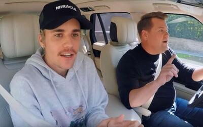 Bieber v Carpool Karaoke přiznal, že výzva na souboj s Cruisem byla hloupost. Také se dozvídáme, proč James Corden neřídil auto