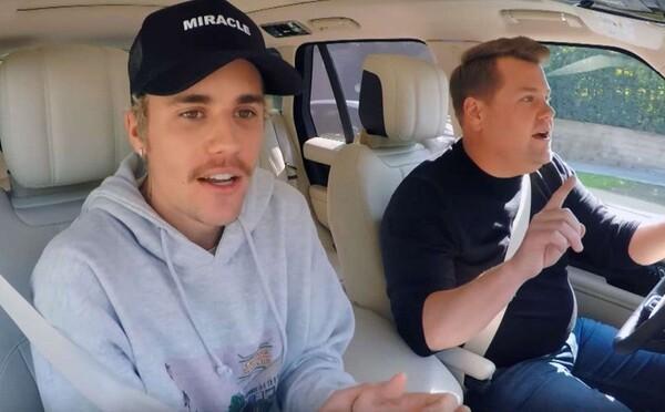 Bieber v Carpool Karaoke priznal, že výzva na súboj s Cruisom bola hlúposť. Tiež sa dozvedáme, prečo James Corden nešoféroval auto