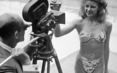 Bikiny jsou pojmenovány podle místa testování atomových bomb a na módní přehlídce je musela odprezentovat striptérka