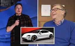 Bill Gates naštval šéfa Tesly Elona Muska. Kúpil si konkurenčné Porsche Taycan