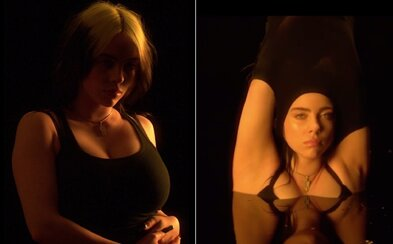 Billie Eilish se svlékla do spodního prádla. Na videu kritizuje každého, kdo ji soudí kvůli tomu, jak vypadá a jak se obléká