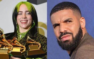 Billie Eilish se zastává Drakea po útocích od fanoušků. Psali, že je úchyl, když si s ní psal před dovršením dospělosti