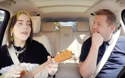Billie Eilish si zaspievala svoj najväčší hit v Carpool Karaoke. Zahrala na ukulele a porozprávala o prvom stretnutí s Bieberom