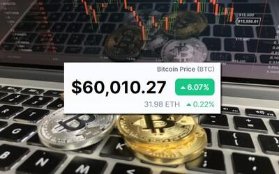 Bitcoin prorazil hranici 60 000 dolarů. Kryptoměna vytvořila další nový rekord