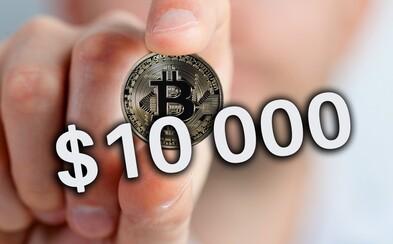 Bitcoin už prekročil hranicu 10 000 dolárov a nezastaviteľne pokračuje v raste. Prekonáva popri tom všetky doterajšie rekordy