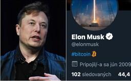 Bitcoin díky Elonu Muskovi vzrostl o 20 %. Stačilo, že si změnil popis profilu na Twitteru
