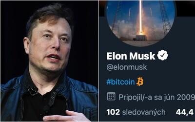 Bitcoin vďaka Elonovi Muskovi vzrástol o 20 %. Stačilo, že si zmenil popis profilu na Twitteri