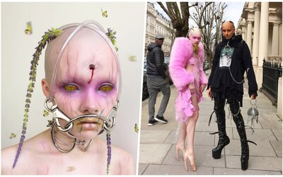 Bizarná dvojica provokuje  vzhľadom. Ich make-up vyzerá ako z iného sveta