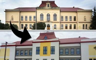 Bizarní rekonstrukce proměnila historickou budovu základní školy v zateplenou barevnou podivnost a je vrcholem i definicí nevkusu
