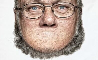 Bizarné portréty mužov, na ktorých fotograf vymenil bradu s čelom