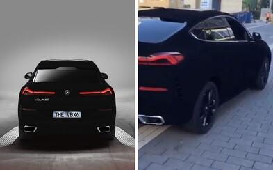 BMW X6 v nejtmavší černé na světě se poprvé ukázalo živě. Vypadá jako objekt z GTA