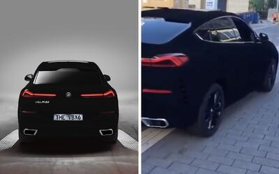 BMW X6 v najtmavšej čiernej na svete sa prvýkrát ukázalo naživo. Vyzerá ako objekt z GTA