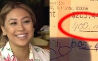 Bohatý pár dal študujúcej čašníčke obrovské sprepitné a zaplatil jej študentský dlh. Srdcervúci príbeh akoby bol z iného sveta