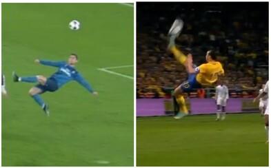 Bol to krásny gól, ale nech to skúsi zo 40 metrov. Zlatan Ibrahimovič posiela Ronaldovi úsmevný odkaz