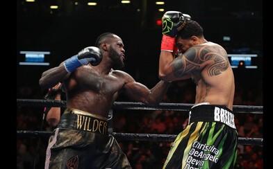 Boxer Deontay Wilder chce v ringu někoho zabít. Knockoutem v prvním kole nyní poslal na zem Breazealea