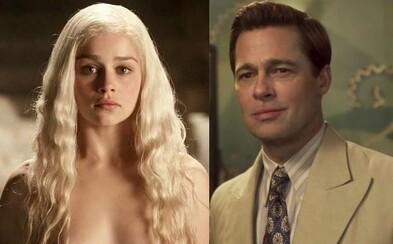 Brad Pitt by zaplatil 120 000 dolárov, len aby mohol s Emiliou Clarke sledovať Game of Thrones. Jeho ponuka však bola prevýšená