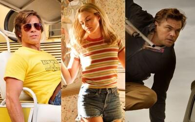 Brad Pitt, Margot Robbie i Leonardo DiCaprio září na obrázcích novinky od Quentina Tarantina