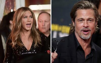 Brad Pitt s obdivom sledoval svoju ex-manželku Jennifer Aniston pri jej ďakovnom prejave