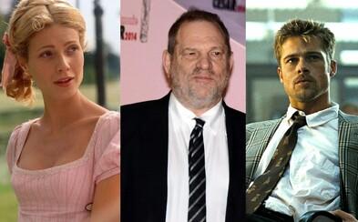Brad Pitt sa mal v minulosti vyhrážať Weinsteinovi zabitím. Chránil tak vtedy svoju partnerku Gwyneth Paltrow
