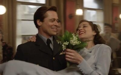 Brad Pitt sa síce rozvádza s Angelinou, v napínavej vojnovej dráme si však berie Marion Cotillard