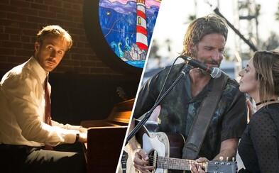 Bradley Cooper ako zlatý hlas s gitarou či Ryan Gosling hrajúci na klavír alebo 10 hercov s úžasným hudobným nadaním
