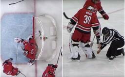 Brankář NHL inkasoval kuriózní gól, na který nezapomene do konce života. Jeho autor ani nepotřeboval trefit bránu