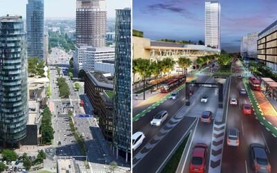 Bratislava ako z budúcnosti: Nové Mlynské nivy prinesú zeleň či chodníky, aké v lokalite nikdy predtým neboli