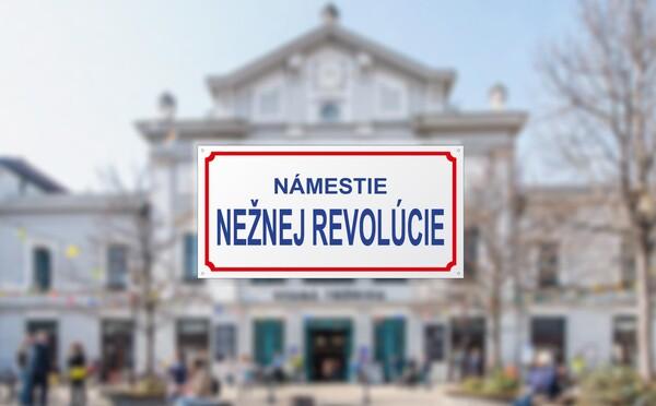 Bratislava má po 30 letech náměstí sametové revoluce