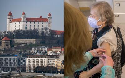 Bratislava sa už pravdepodobne nedostane do čiernej ani bordovej fázy. Dosiahla totiž 75-percentnú zaočkovanosť ľudí nad 50 rokov