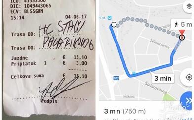 Bratislavský taxikár si za tri minúty jazdy vypýtal 20 eur. Keď sa chcel Slovák dôchodcov zastať, uchýlil sa k násiliu i nadávkam