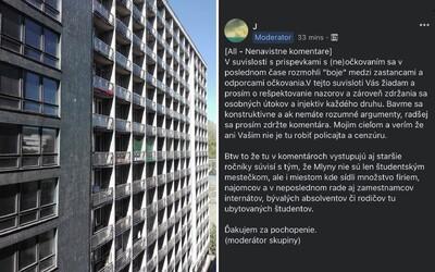 Bratislavských vysokoškolákov rozdelila anketa v skupine na Facebooku. Zaočkovaní chcú mať izbu len so zaočkovanými